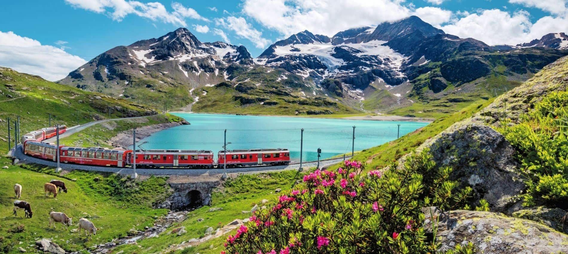 Viatja per Suïssa en tren